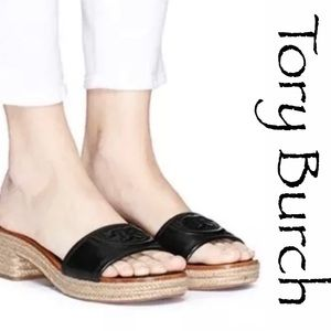 TORY BURCH Fleming Espadrille Sandals size 9.5